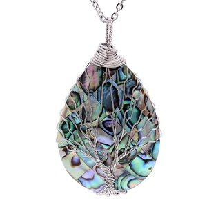 Tree of life Tear drop necklace